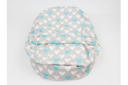 Náhradní potah na pelíšek pro miminko SRDCE MODRÉ 100% bavlna