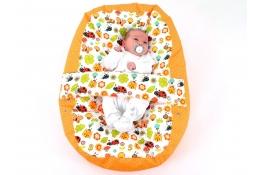 Pelíšek pro miminko, relaxační polštář BERUŠKA oranžová, AKCE