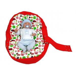 Pelíšek pro miminko, relaxační vak BERUŠKA červená1