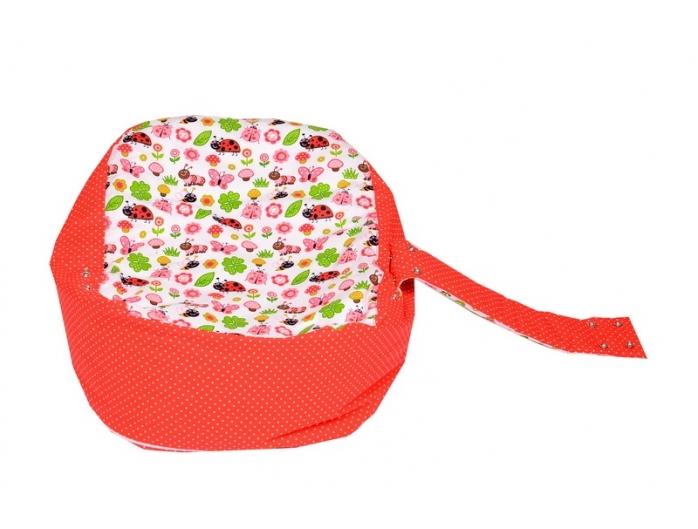 Pelíšek pro miminko, relaxační vak BERUŠKA červená4