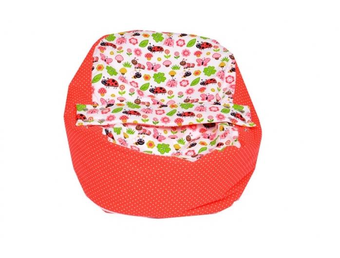 Pelíšek pro miminko, relaxační vak BERUŠKA červená2