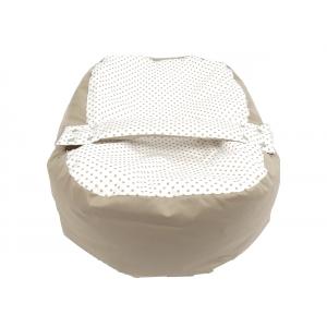 Pelíšek pro miminko, relaxační vak PUNTÍK dvoubarevný béžový5