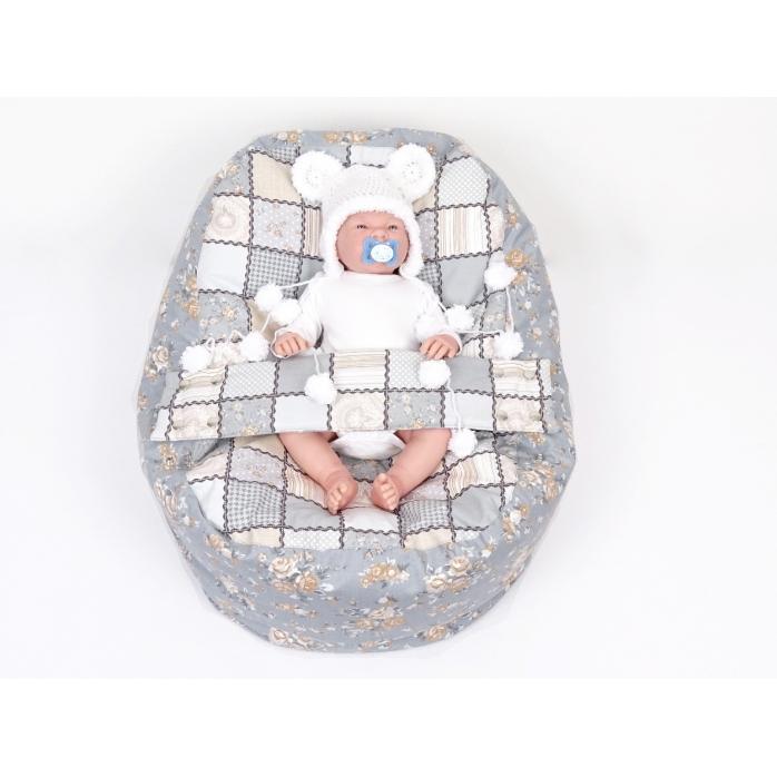 Pelíšek pro miminka, kojenecký relaxační polštář Patchwork