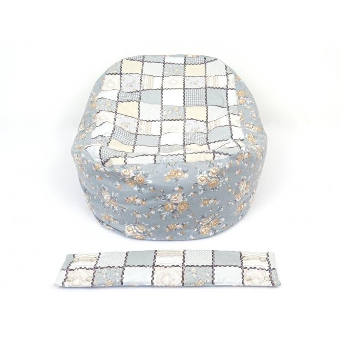 Pelíšek pro miminka, kojenecký relaxační polštář Patchwork 1