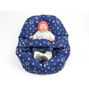 Relaxační a polohovací vak pro miminko hvězdy modré