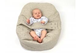 Pelíšek pro miminka, kojenecký relaxační polštář PŘÍRODNÍ LEN 1