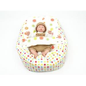 Pelíšek pro miminka, kojenecký relaxační polštář LOUKA oranžová