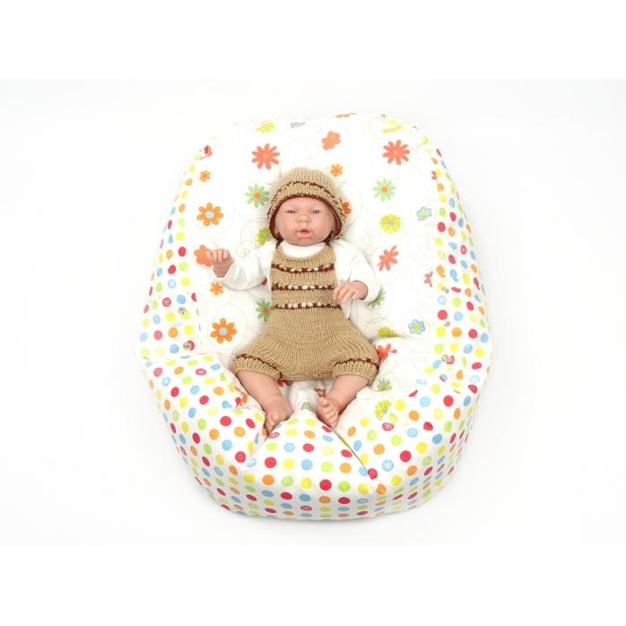Pelíšek pro miminka, kojenecký relaxační polštář LOUKA oranžová 1