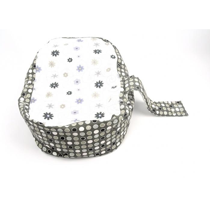Pelíšek pro miminka, kojenecký relaxační polštář LOUKA šedá 1