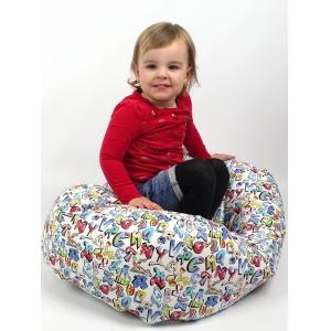 SEDACÍ VAK, kojenecký relaxační polštář GRAFITTI