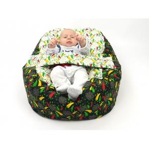 Pelíšek pro miminka, kojenecký relaxační polštář PAPRIČKY 1
