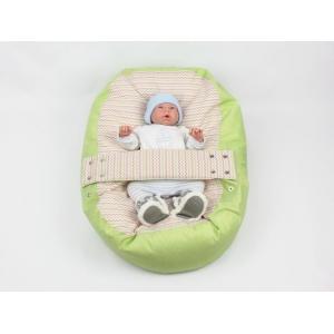 Pelíšek pro miminko, relaxační polštář VLNKY ZELENÉ
