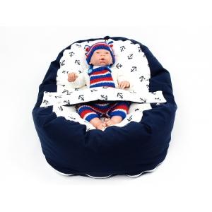 Pelíšek pro miminka, kojenecký relaxační polštář KOTVY