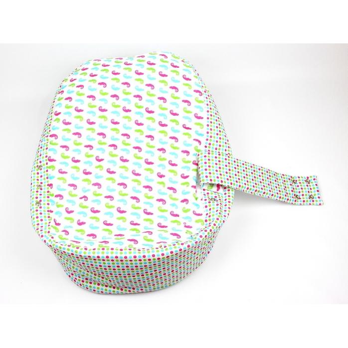 Pelíšek pro miminko, kojenecký relaxační polštář CHAMELEON BÍLÝ 2