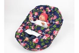 Pelíšek pro miminka, kojenecký relaxační polštář RŮŽE