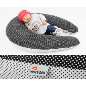 Kojicí polštář Maxi ČERNOBÍLÝ PUNTÍK DVOUBAREVNÝ 3mm, 100% bavlna