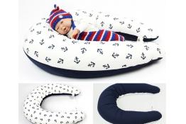 Těhotenský a kojicí polštář Maxi KOTVY 100% bavlna
