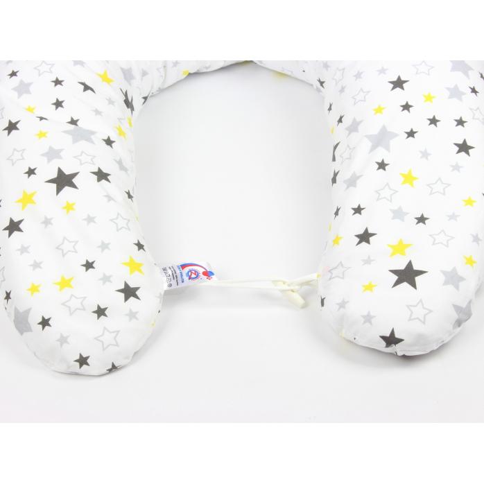 Kojicí polštář Maxi HVĚZDY ŽLUTÉ 100% bavlna 3